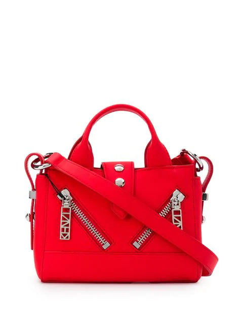 Kenzo Tiny Tote Bag In Red