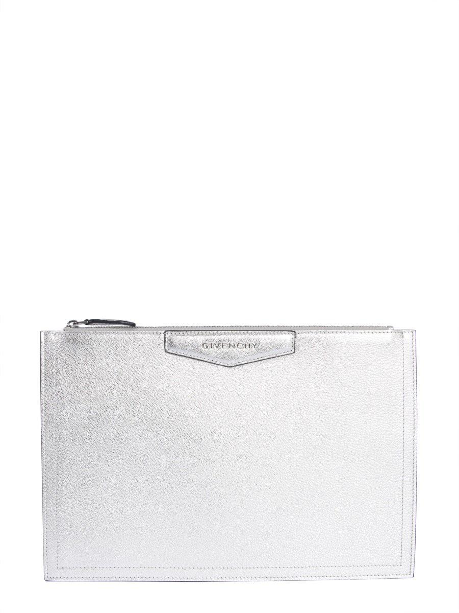 a1df16741d Givenchy Antigona Clutch Bag In Silver