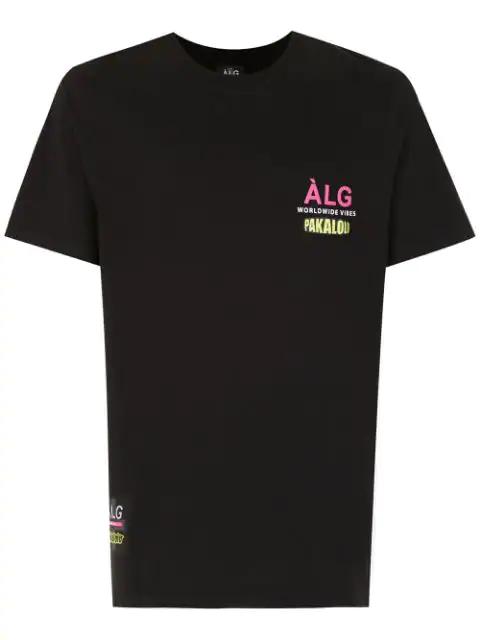 ÀLg Camiseta World Wide Sport  + Pakalolo - Schwarz In Black