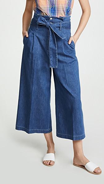 Stella Mccartney Maggie Denim Culottes In Blue