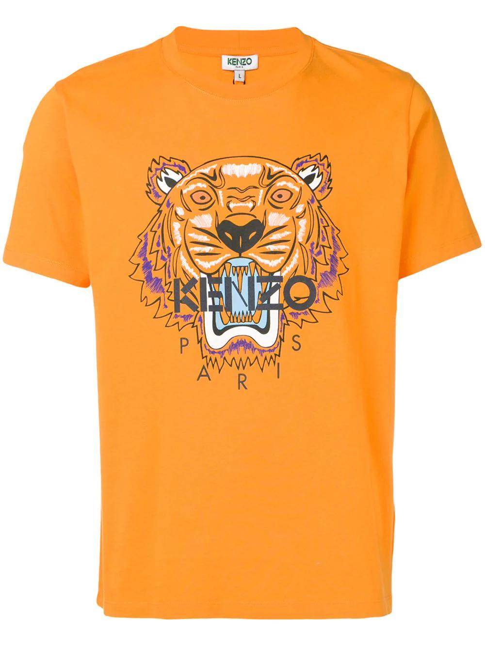 141ef54eb Kenzo Tiger Print T-Shirt - Orange | ModeSens