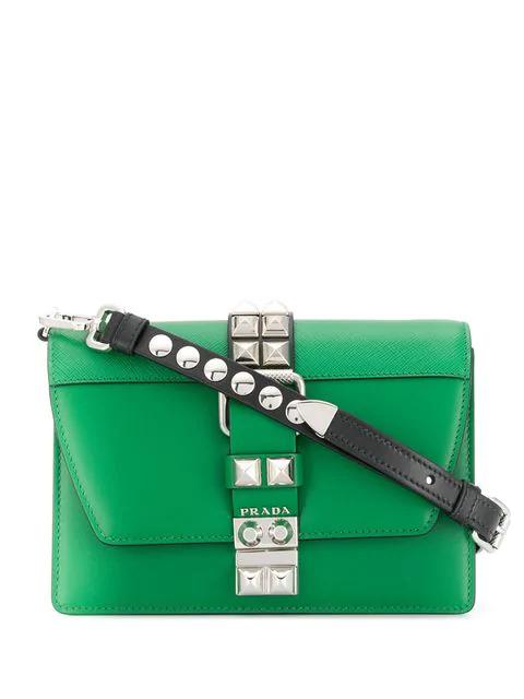 Prada Elektra Medium Crossbody Bag In Green
