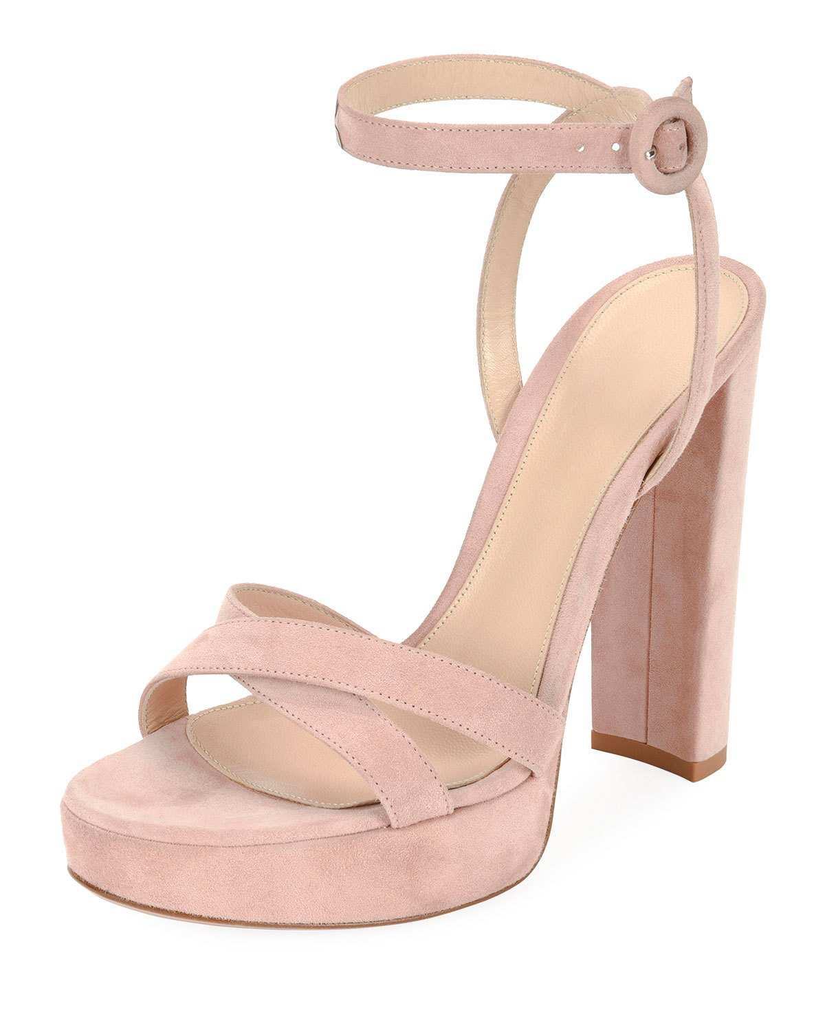 538cf584b0a66 Made in Italy. Gianvito Rossi Women s Suede Platform Sandals - Pink Size  8.5 A great designer gift. Shop Gianvito Rossi at Barneys New York.