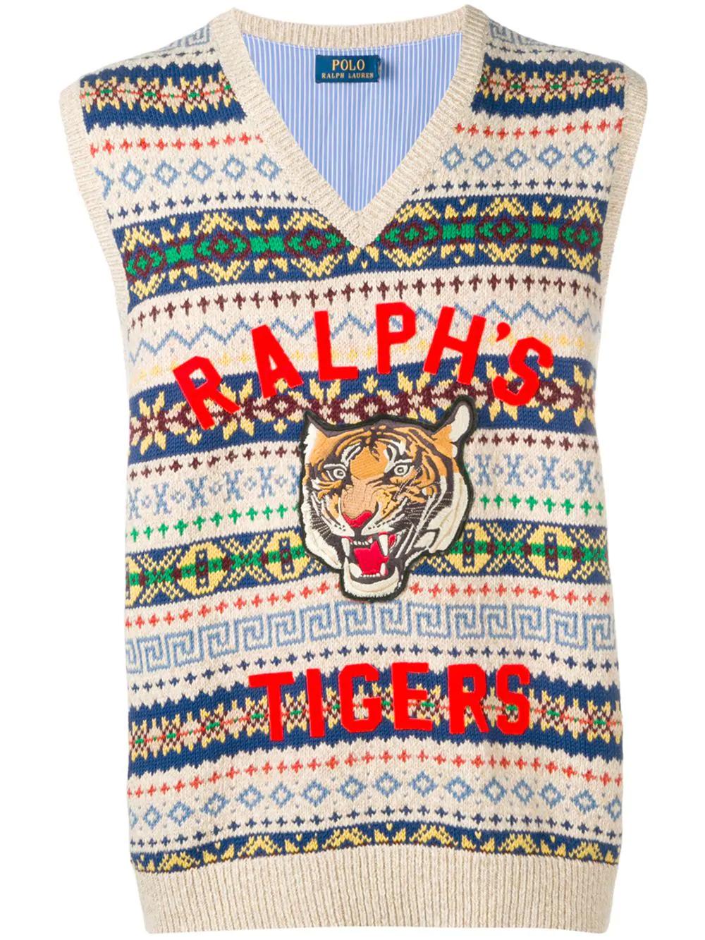77f67a13 Polo Ralph Lauren 'Tigers' Pullunder - Nude In Neutrals | ModeSens