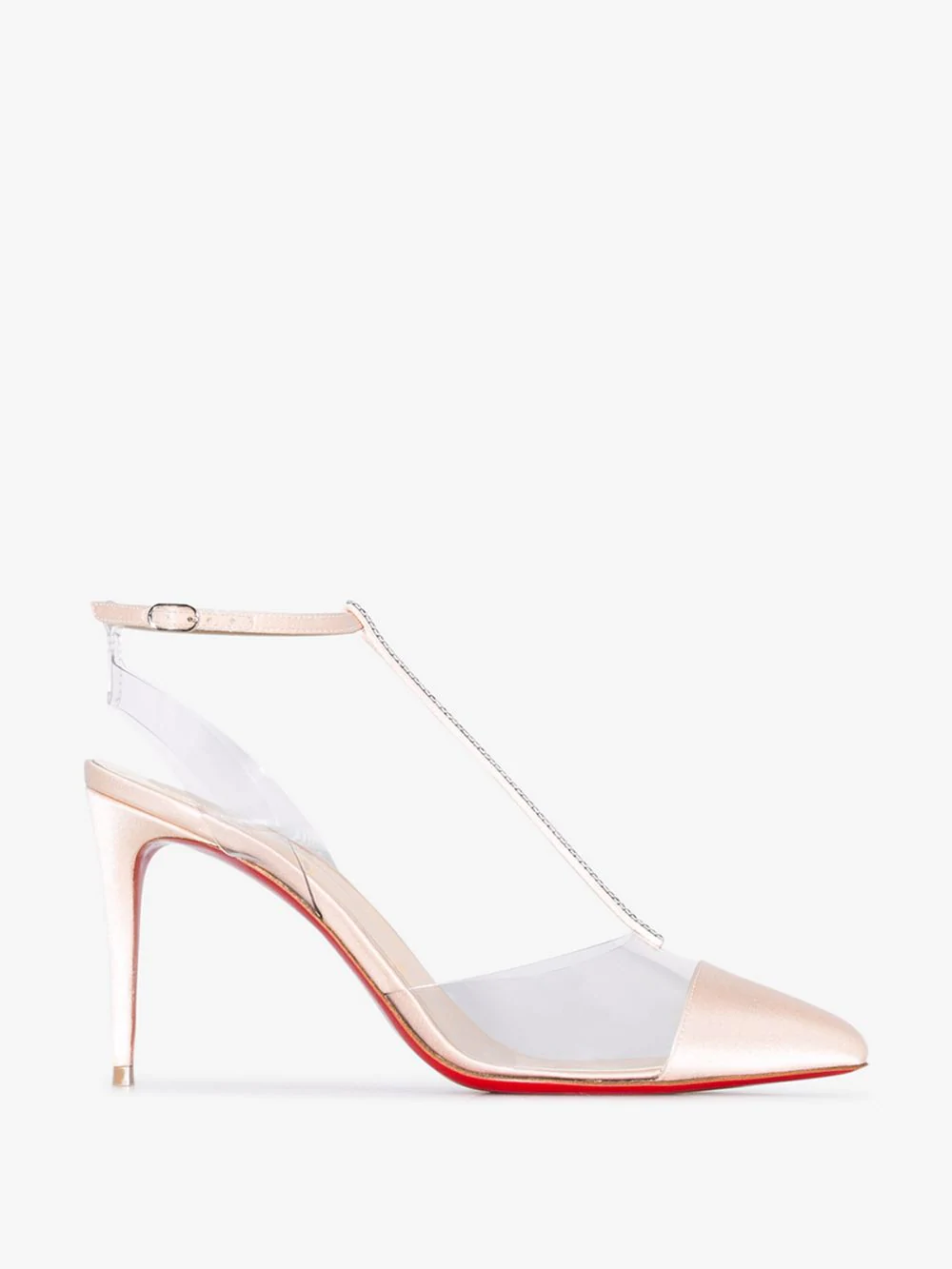5c89b8b7c2a7 Christian Louboutin Nosy Strass Red Sole Pumps In Neutrals