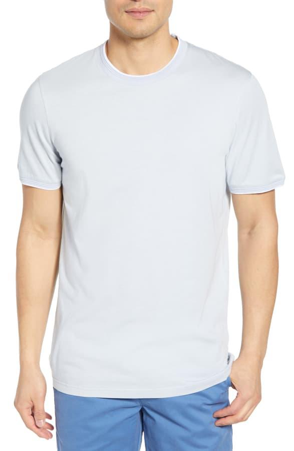 Ted Baker Sink Slim Fit T-Shirt In Lt-Blue