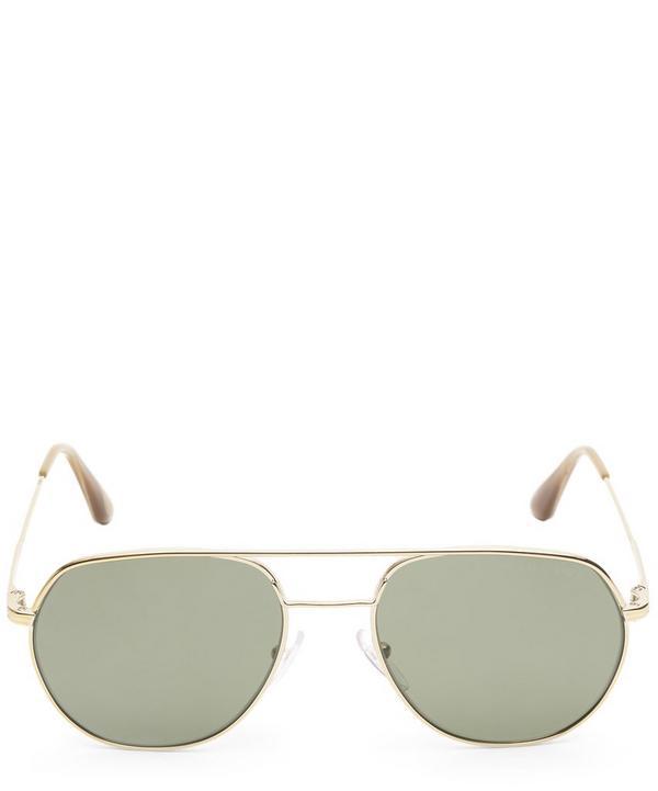 Prada Aviator Sunglasses In Gold