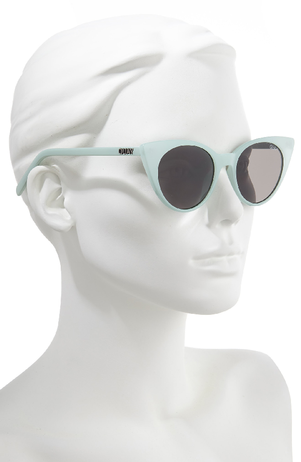 efc4414666 Quay Aphrodite 53Mm Cat Eye Sunglasses - Mint  Smoke