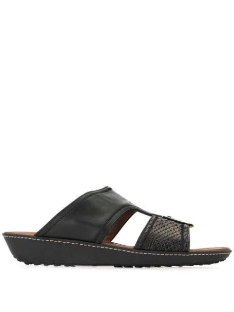 Tod's Logo Open-toe Sandals In Black