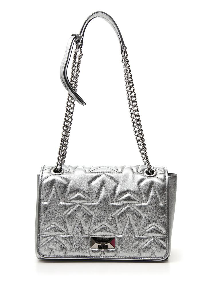 800a586a36c Jimmy Choo Helia Quilted Star Clutch Bag In Silver   ModeSens