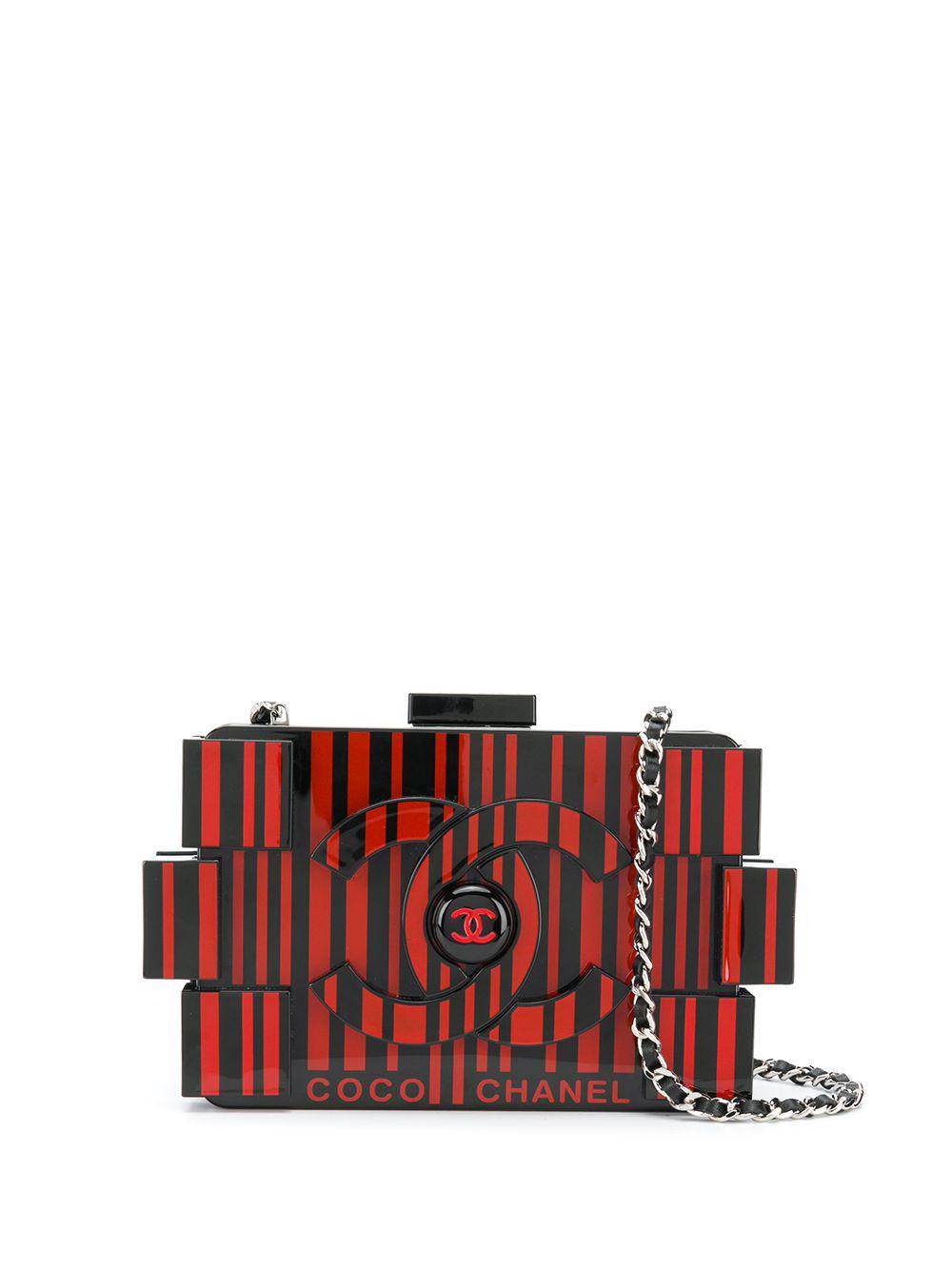 ad0f97faa39b Chanel Pre-Owned Lego Clutch - Farfetch In Black | ModeSens