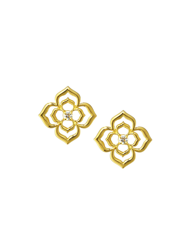 638fcd2ac93462 Penny Preville 14K Diamond Echo Flower Stud Earrings | ModeSens