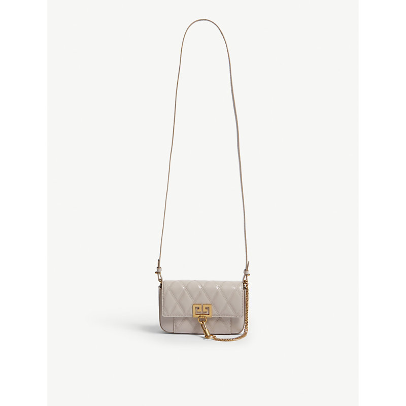 a501c04f2c6ee Givenchy Gv3 Small Leather And Suede Shoulder Bag In Natural