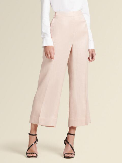 Dkny Cropped Wide-Leg Pants In Blush
