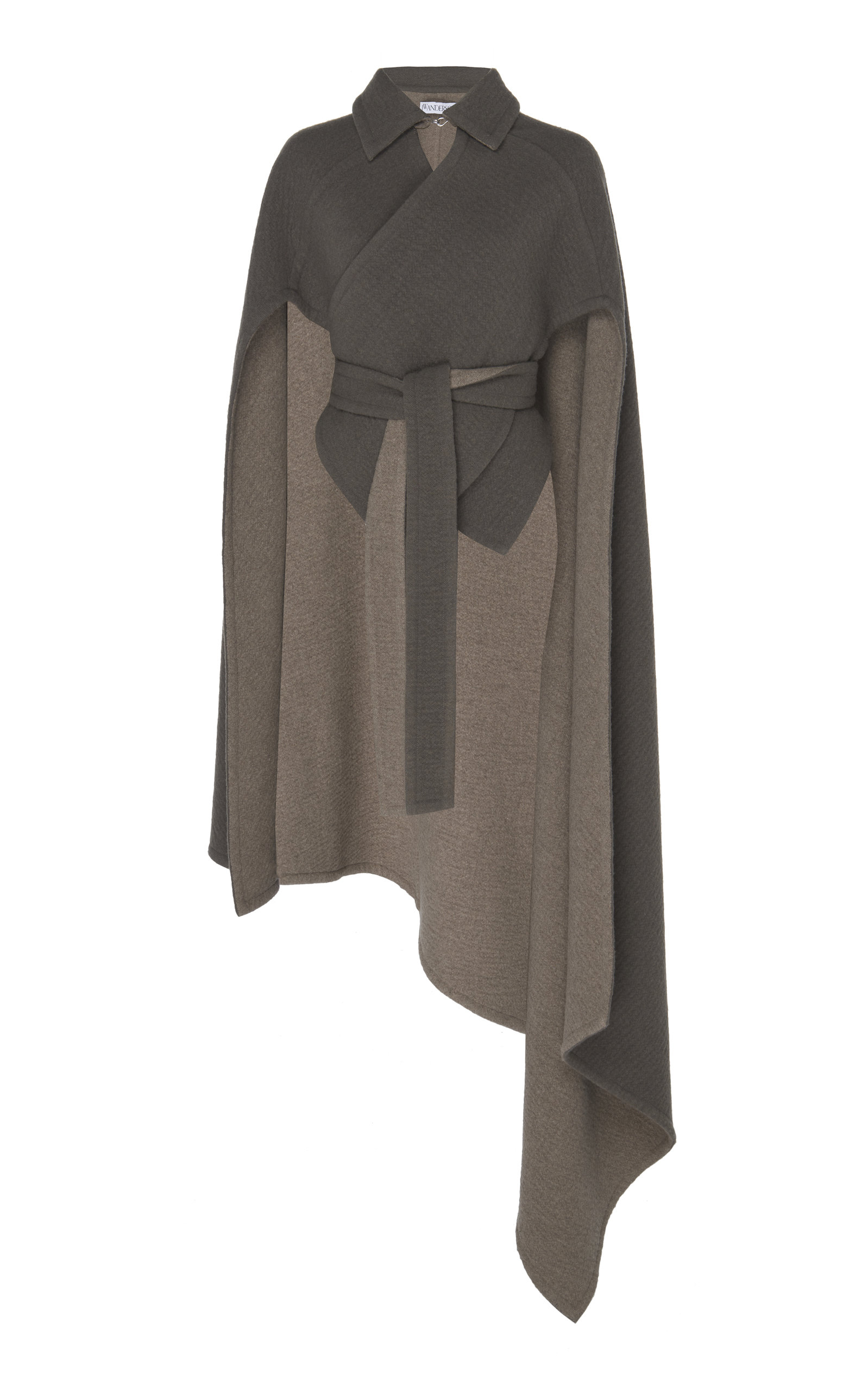ecdf97a7f J.W.Anderson Wool-Blend Cross Wrap Double Face Cape In Grey   ModeSens