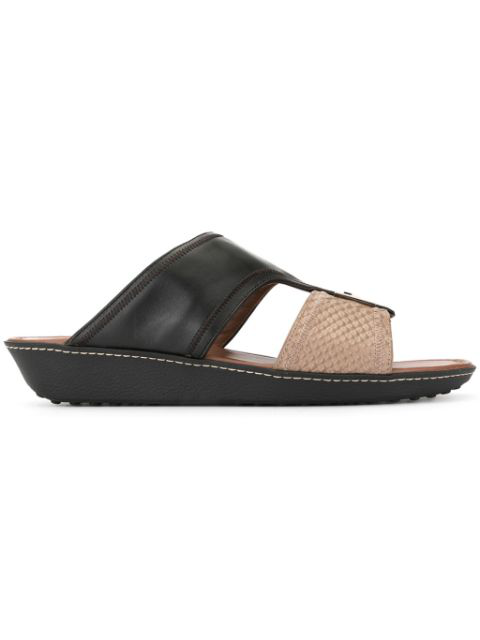 Tod's Contrast Open-toe Sandals In Black