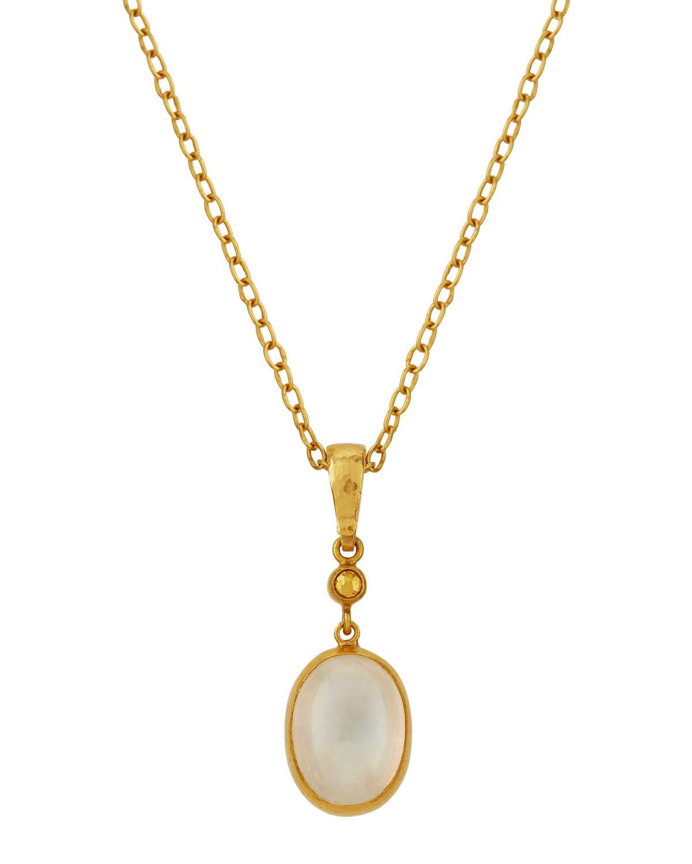 Gurhan Medium Amulet Hue Moonstone Pendant Necklace