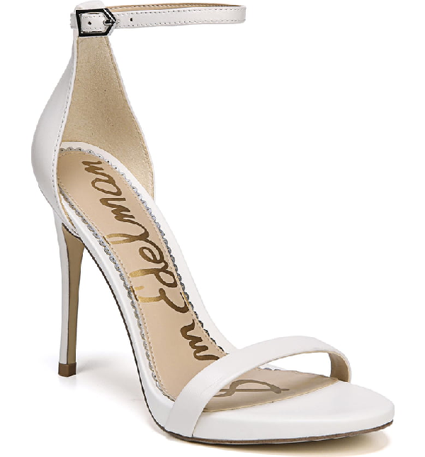 0fe4f1832 SAM EDELMAN. Women s Ariella High-Heel Ankle Strap Sandals in Bright White  Leather