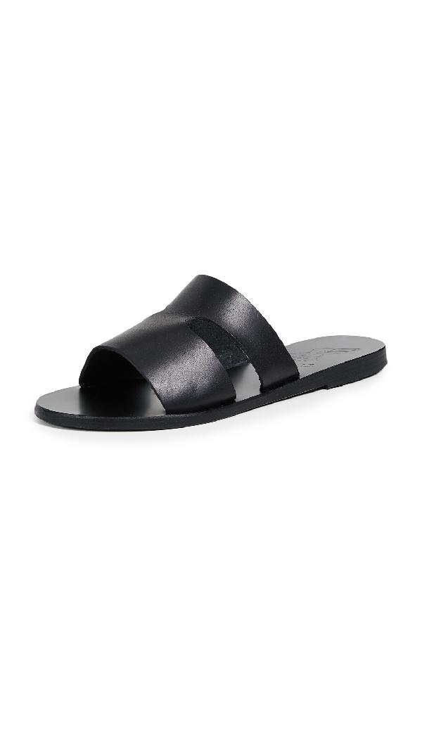Ancient Greek Sandals Women S Apteros Flat Slide Sandals
