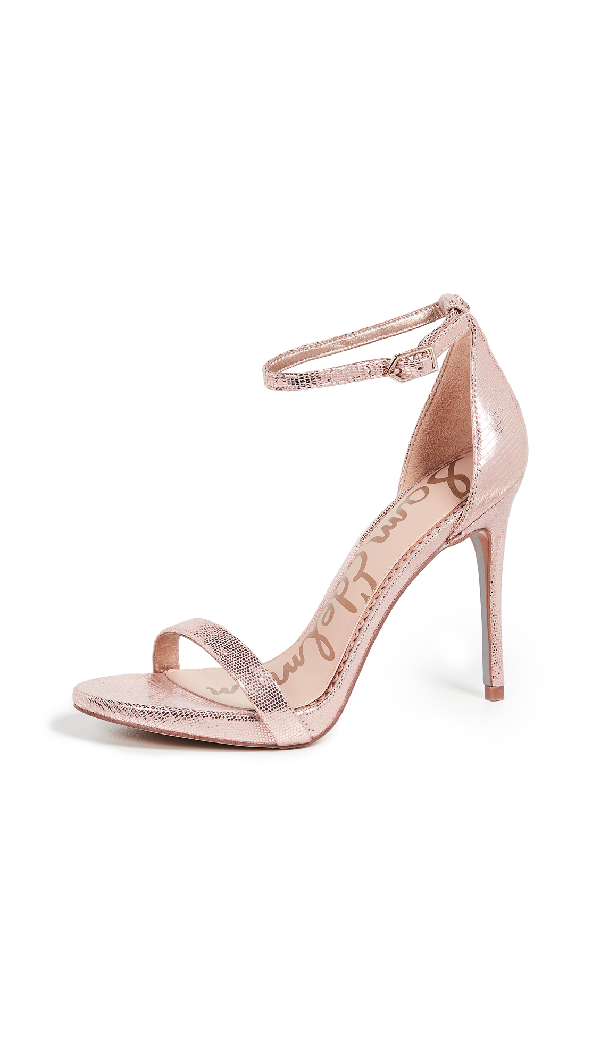 dfe57a89b46f SAM EDELMAN. Women s Ariella High-Heel Ankle Strap Sandals in Blush Gold