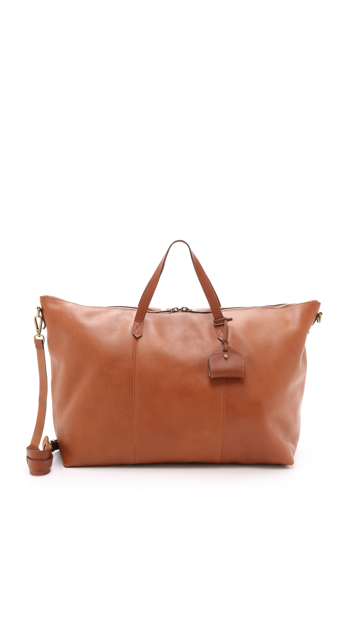 Madewell 'Transport' Weekend Bag - Brown In English Saddle