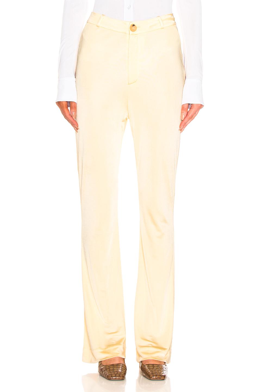 Acne Studios Prissa Trouser Pant In Yellow In Vanilla Yellow
