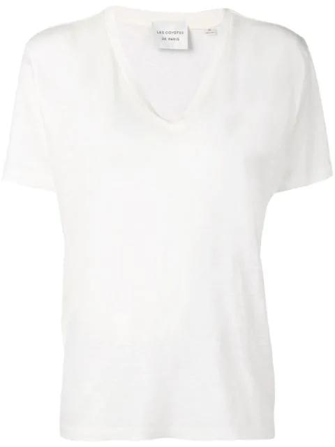 Les Coyotes De Paris Hanna T-shirt In White