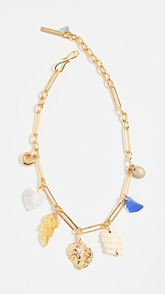 Lizzie Fortunato Paradise Gold Plated Charm Necklace In Gold/Multi