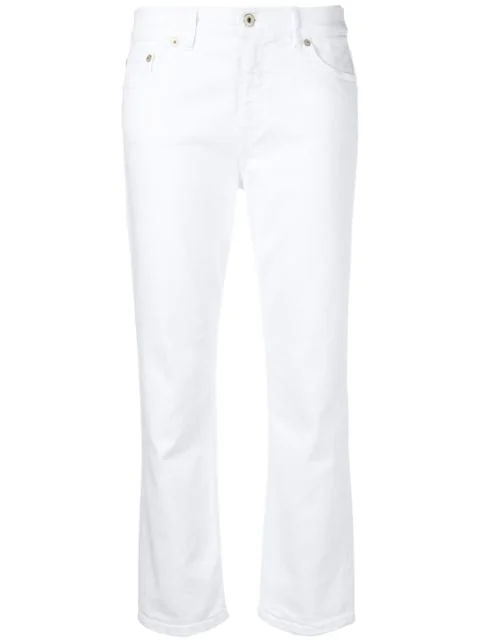 Dondup Cropped Jeans In White