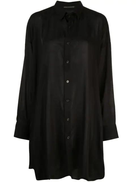 Yohji Yamamoto Spun Lawn Shirt In Black