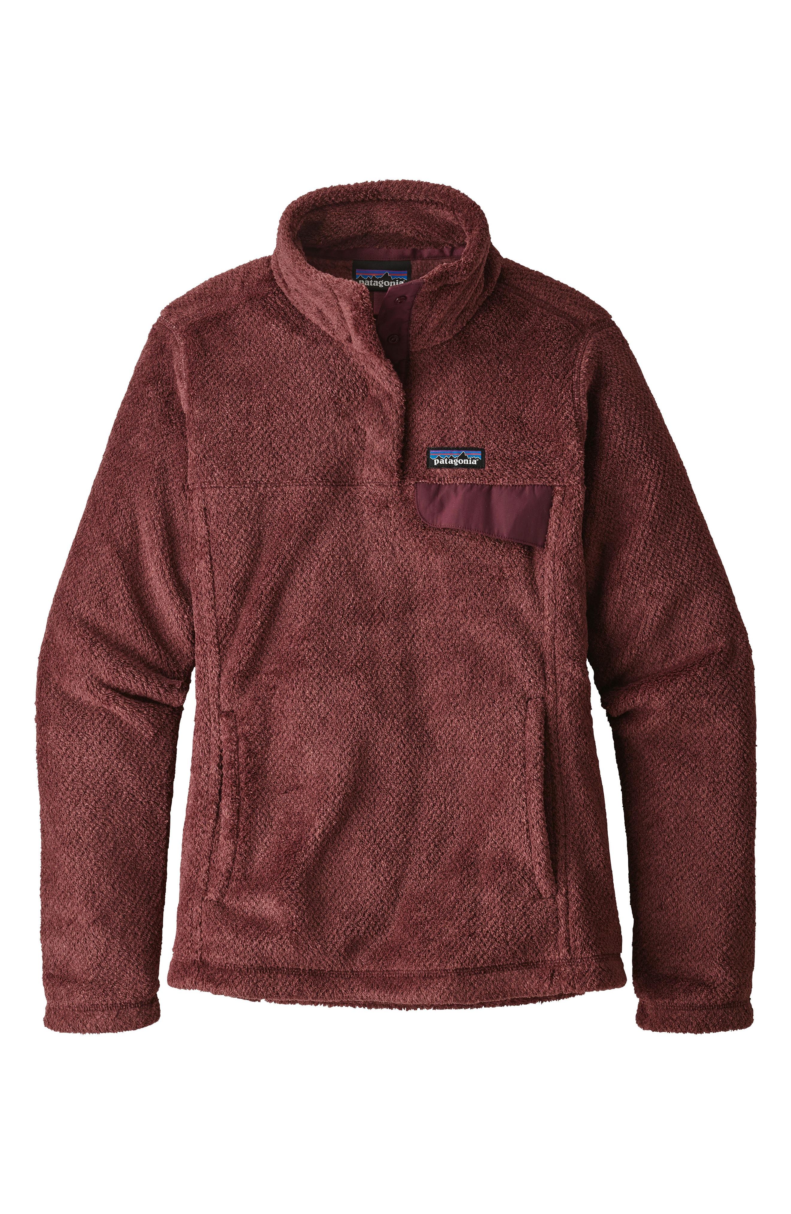Patagonia Re-Tool Snap-T Fleece Pullover In Kiln Pink - Dark Currant X-Dye