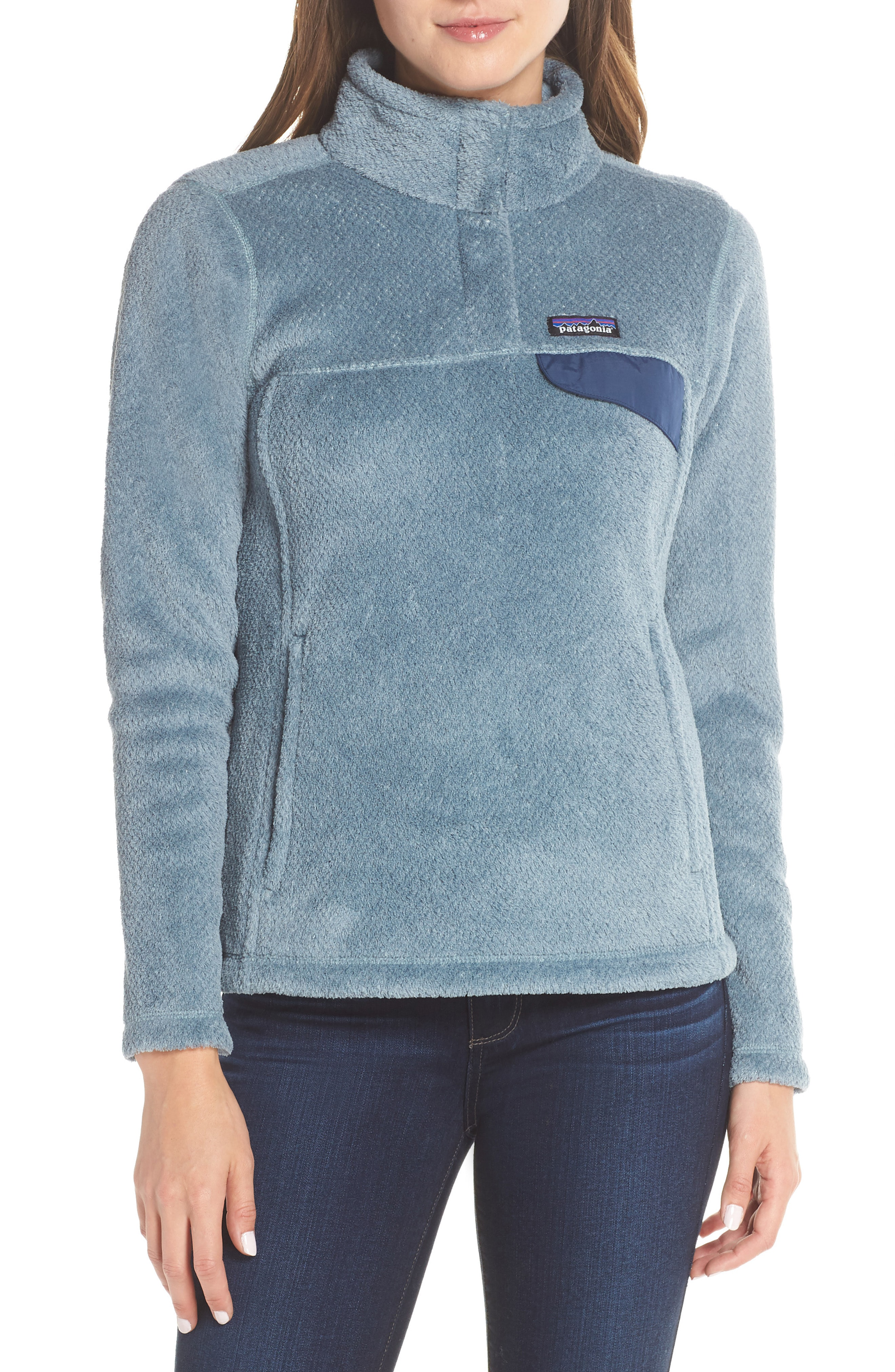 Patagonia Re-Tool Snap-T Fleece Pullover In Shadow Blue - Cadet Blue X-Dye