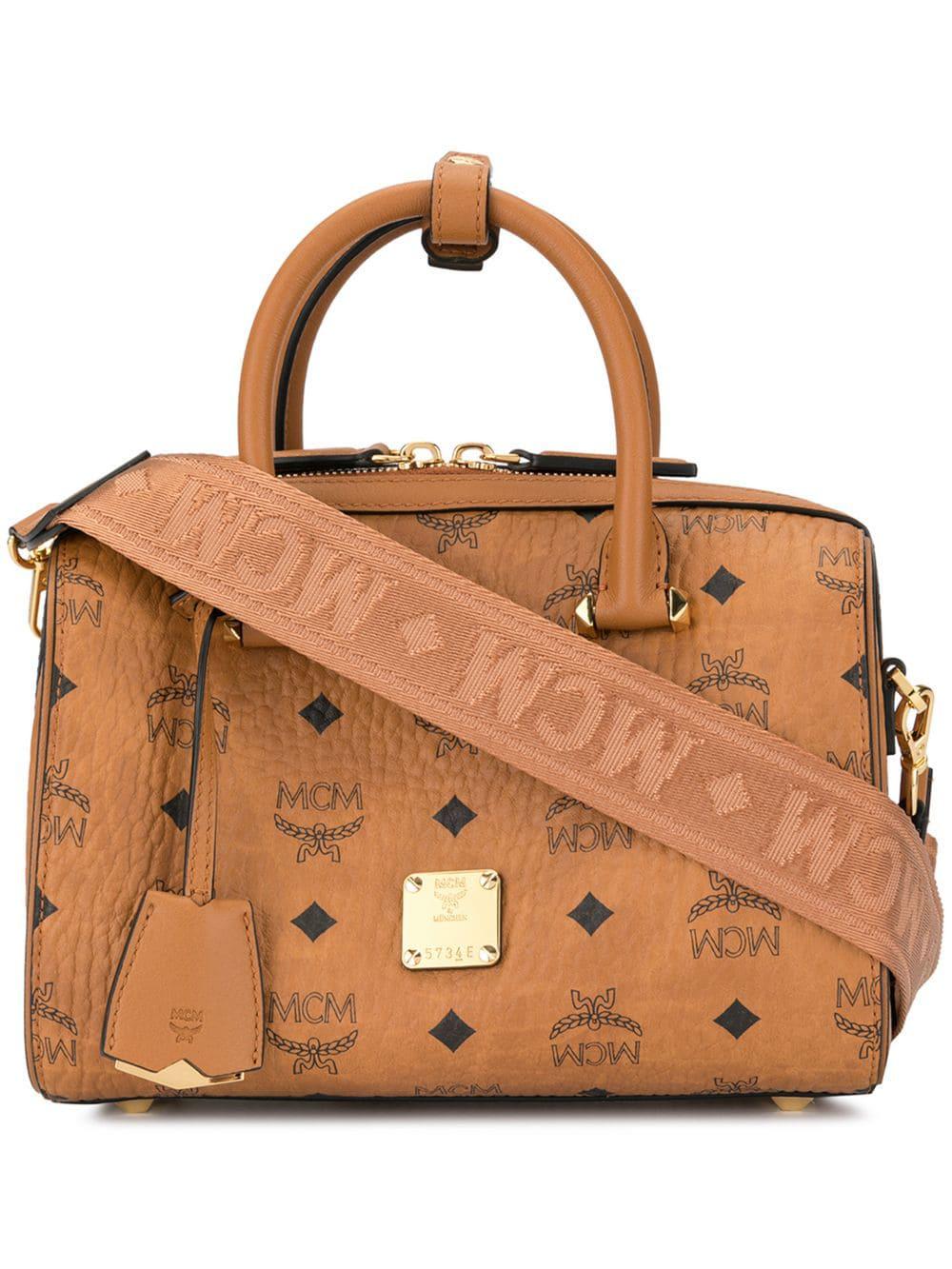 ce83ce973 Mcm Essential Boston Bag - Brown | ModeSens