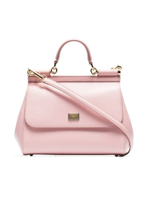 a61ba9bfab Dolce & Gabbana Sicily Micro Leather Shoulder Bag In Pink   ModeSens