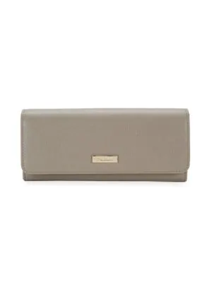 Furla Classic Leather Clutch In Sabbia Beige