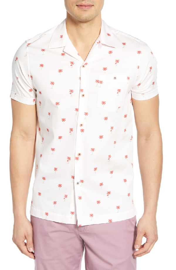 Ted Baker Toadtwo Slim Fit Sport Shirt In Pink