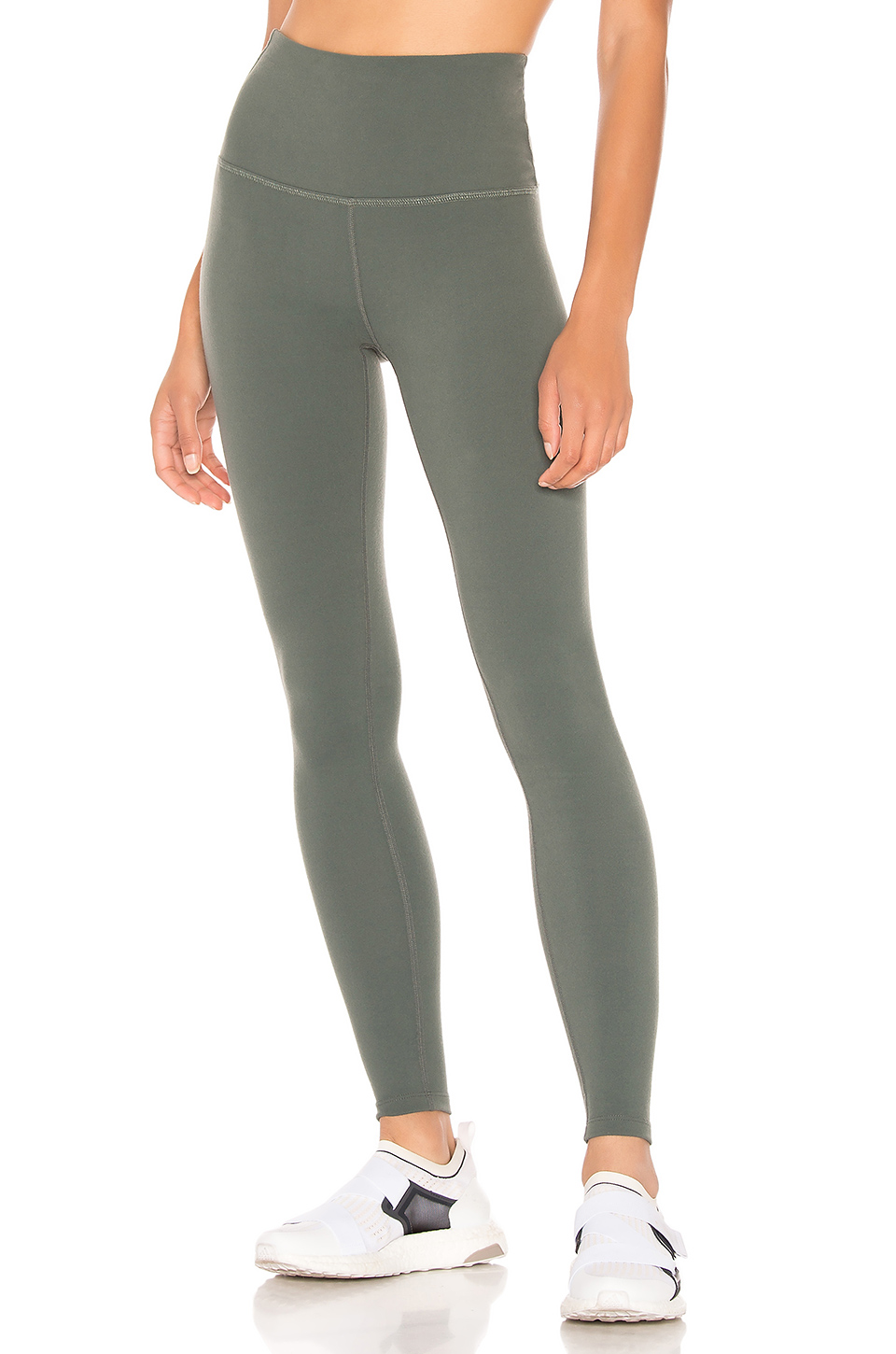 ba89a29d3075e0 BEYOND YOGA. Beyond Yoga Caught In The Midi High Waisted Legging In Green.  ...