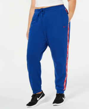 nike plus size sportswear logo joggers in indigo force. Black Bedroom Furniture Sets. Home Design Ideas
