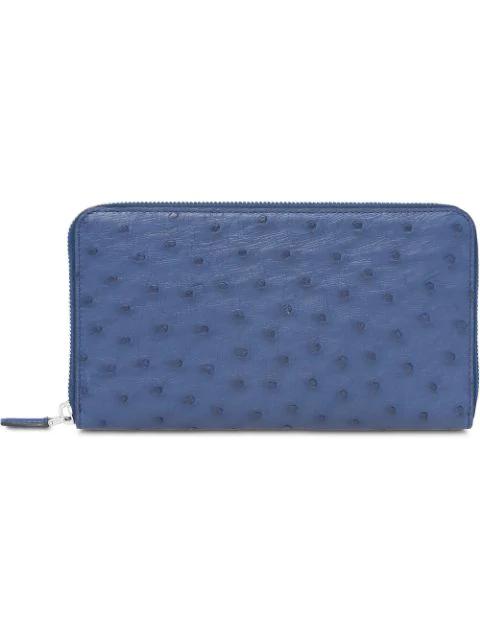 Prada Textured Document Holder In Blue