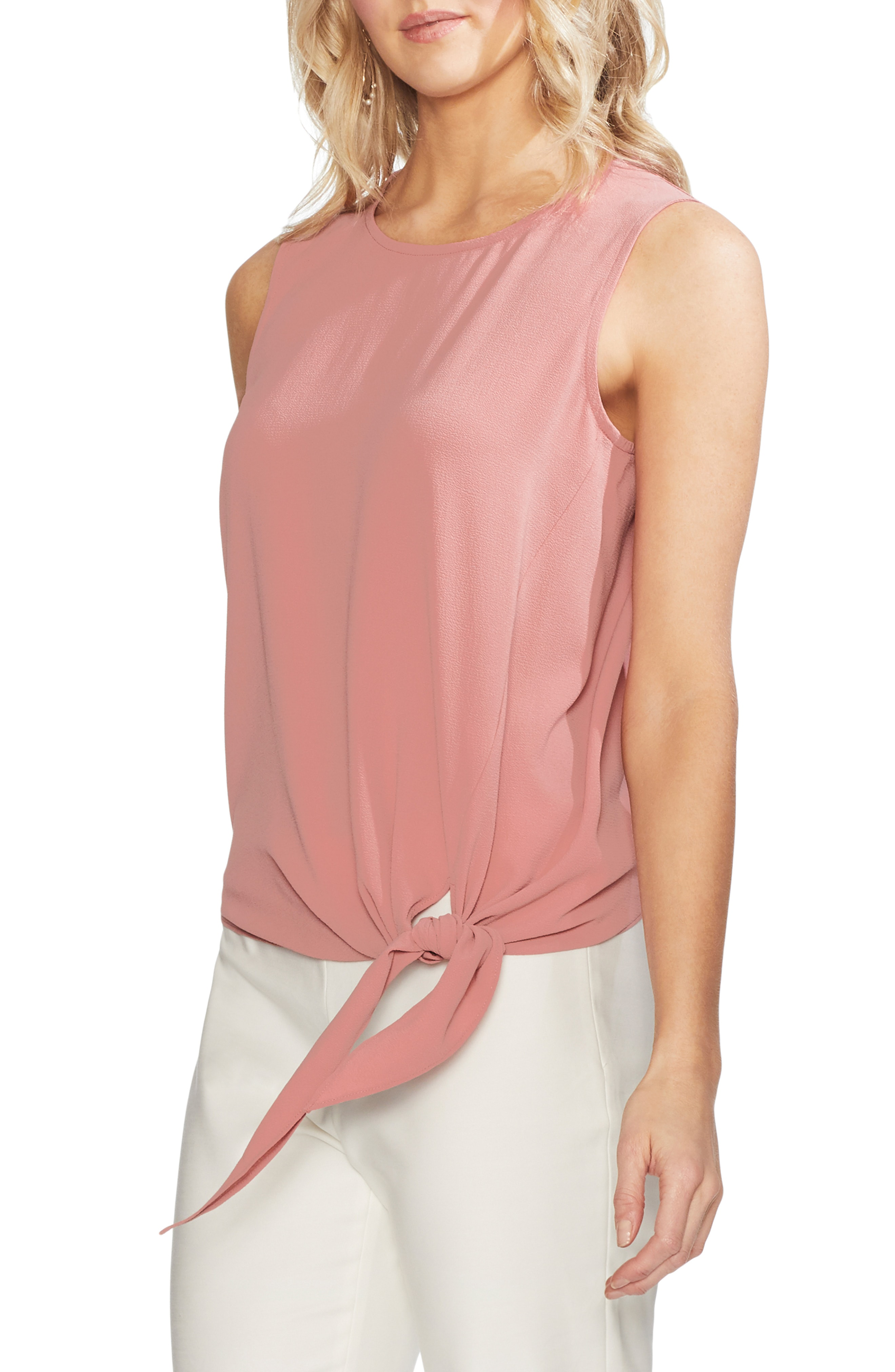 aec93aadb3e5 Style Name  Vince Camuto Sleeveless Tie Front Blouse. Style Number  5774103.