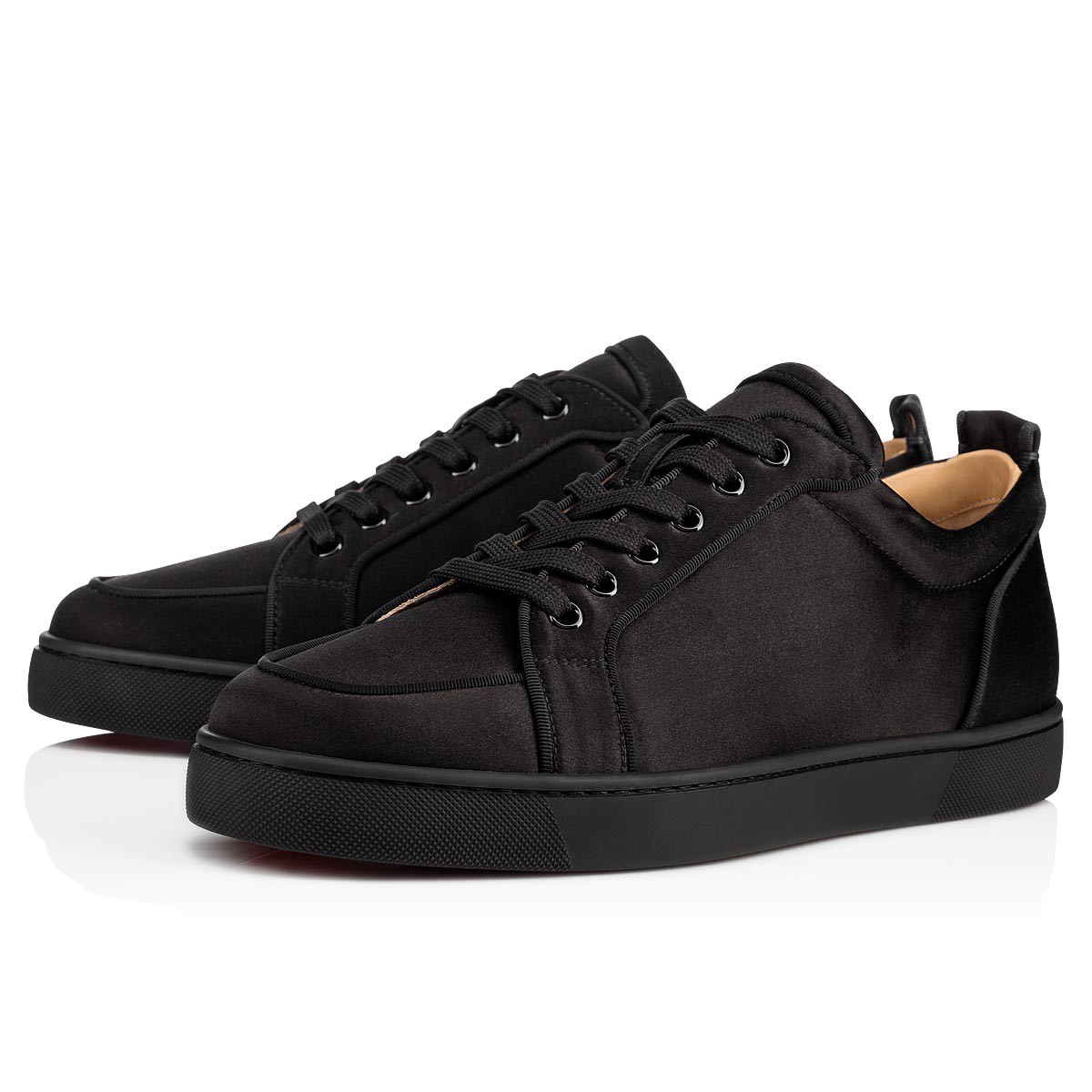 7c0bc8913e3 ... iconic Rantulow Orlato low-top sneakers with this version made from  violet satin. These rounded-toe sneakers adjust with laces.