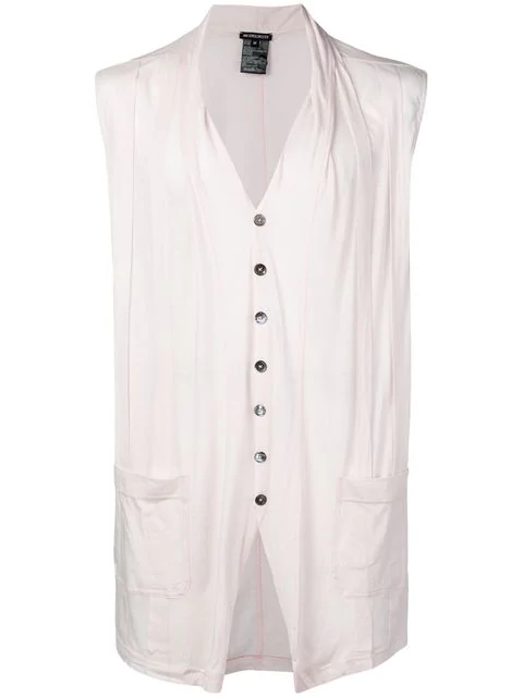 Ann Demeulemeester Panelled Sleeveless Cardigan In Pink