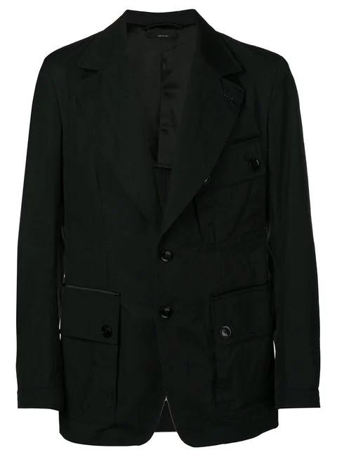 Tom Ford Cargo Pocket Military Jacket In Black