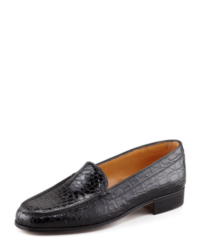 Gravati Crocodile Loafer, Black In Klack