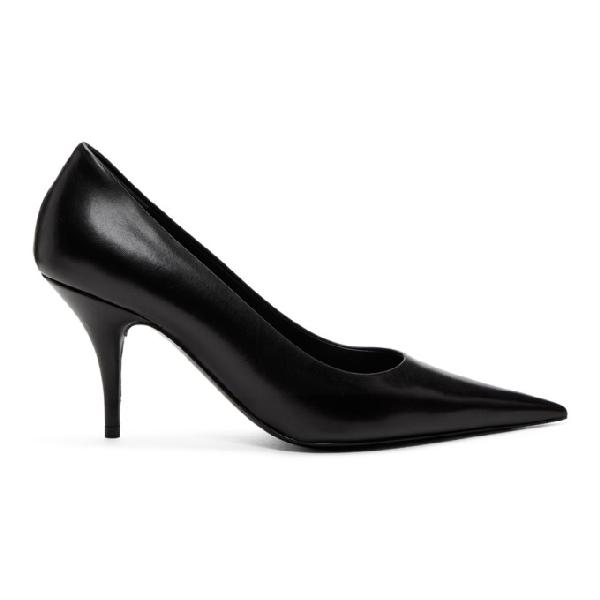 Balenciaga Slash Heel Pumps In 1000 Black