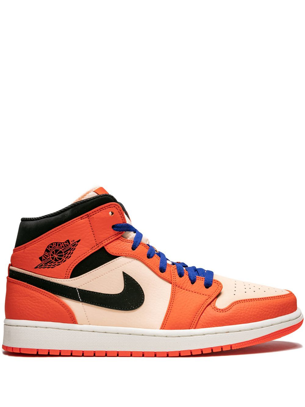 3fedd129ce47 JORDAN. Jordan  Air Jordan 1 Mid Se  Sneakers - Orange in Team Orange Black-Crimson  Tint