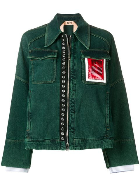 N°21 Contrast Pocket Jacket In Green