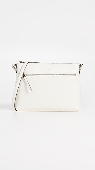0793ef69fe31a Kate Spade Medium Polly Leather Crossbody Bag - White In Parchment ...