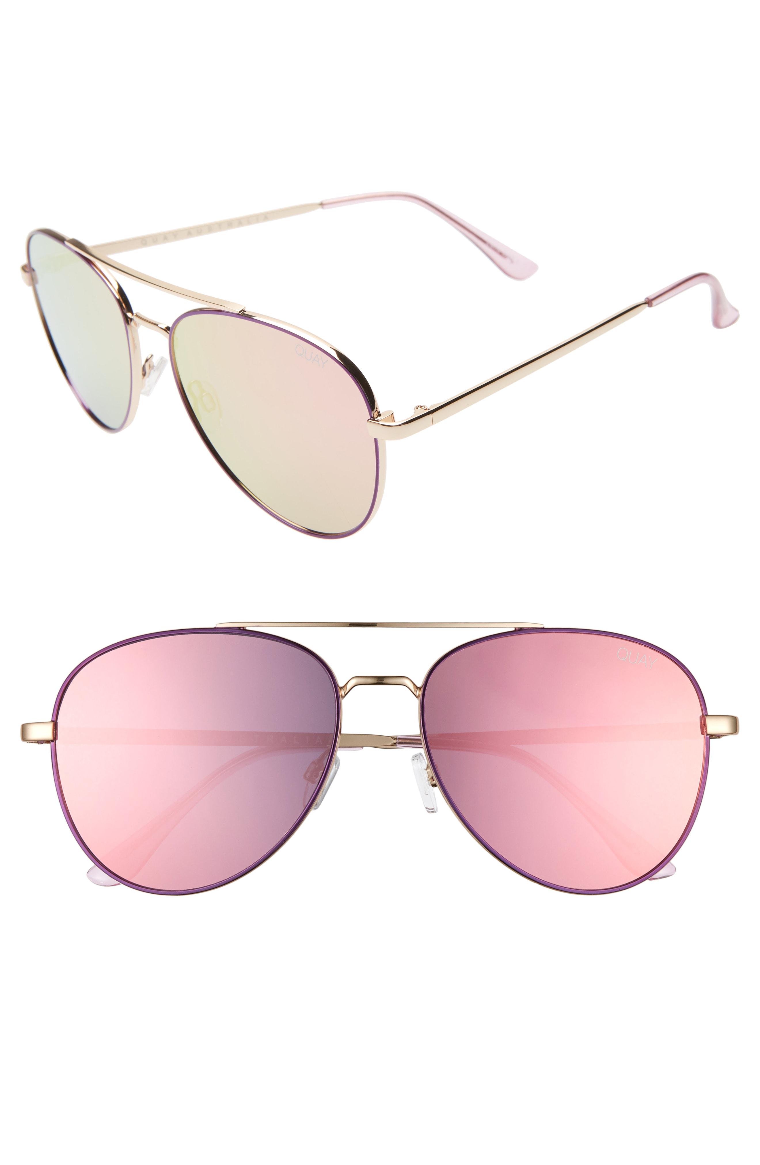 a1022e667dfe6 Quay Single 50Mm Aviator Sunglasses - Purple  Light Pink
