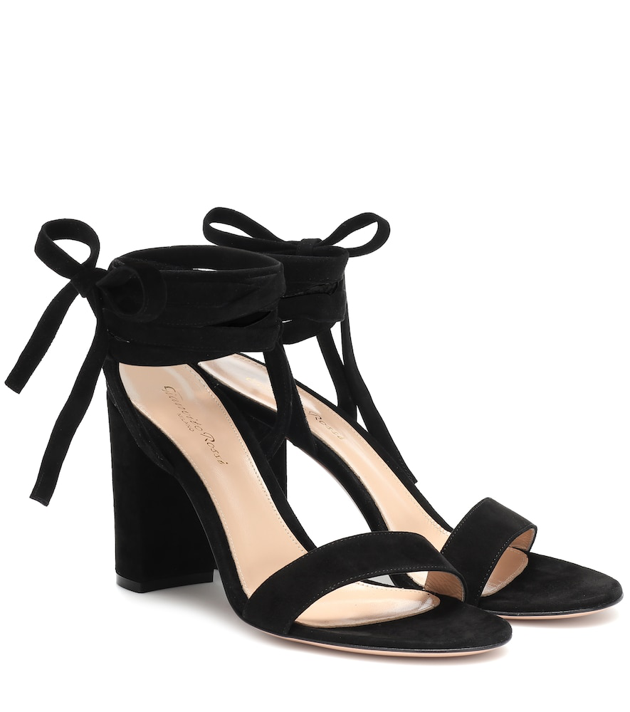 c08c5edb881 Gianvito Rossi Exclusive To Mytheresa - Gaia 85 Suede Sandals In Black